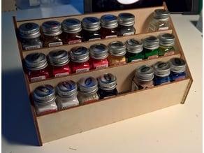 Testor paint rack (3mm wood/acrylic)
