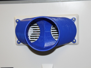 "Exhaust Vent For Flashforge Dreamer to 4"" dryer vent"