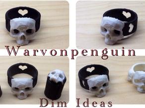 Skull Heart Ring