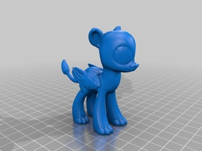 MLP style male Sphinx blank with folded wings
