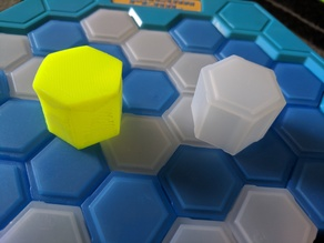 Hexagonal block game piece