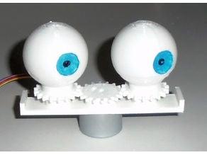 Animatronic eyes, the simple way