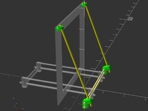 Supports for Prusa i3 aluminium frame