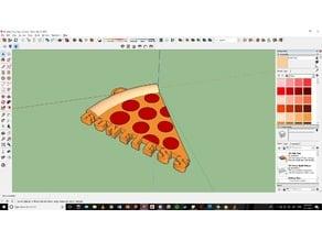Boneless Pizza Keychain