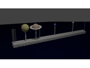 Accurate and Proportional Solar System (APSS)