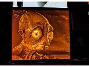 Oddworld: Soulstorm - Abe Artwork Lithophane
