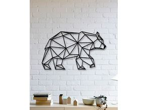 Bear Wall Sculpture 2D II