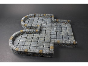 OpenForge 2.0 Dungeon Stone Separate Wall Low Primary Walls
