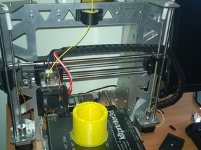 Support for filament cleaner and lubricator