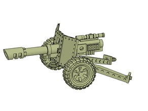 28mm cannon carriage model