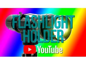 Flashlight Holder to mount on a tripod or lightstand
