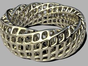 parametric grid bangle