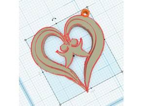 Heart pendant - Pendentif Coeur