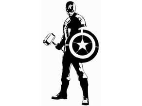 Captain America stencil 2