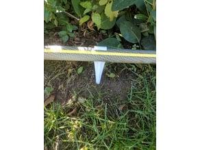 Garden hose anchor
