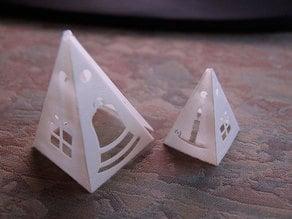 Foldable Pyramid Ornament