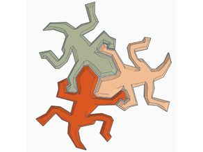 Escher Lizards  Cookie Cutter