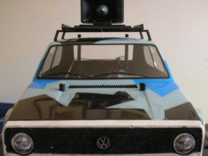 Roof Rack and Horn for 1:12 scale RC Cars