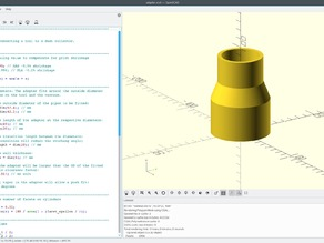 Parametric Dust Collector Adapter