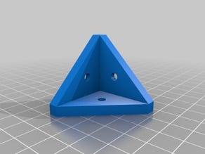 Parametric corner bracket (external) with round countersunk holes