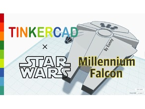 Simple Millennium Falcon with Tinkercad