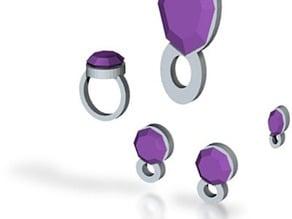 Lara Violet Airs Jewelry set