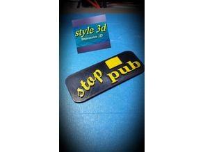 stop pub ( style 3d )