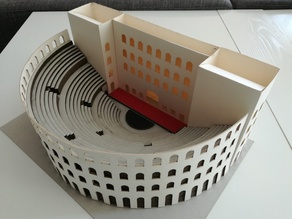 maquette de théâtre antique romain model of roman antic theater lasercut