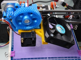 Extruder and cooling fan bracket - Prusa i3 - 30mm carriage
