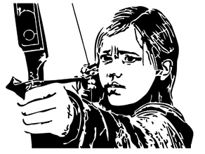 The Last of us Ellie stencil