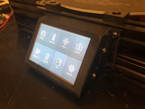 Anycubic Kossel Plus touch panel mount with USB port