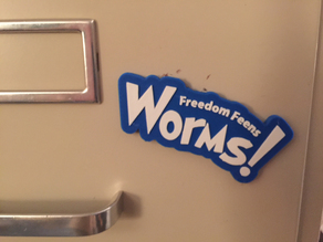 Worms! Fridge Magnet
