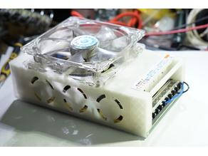 12V PSU case cover with 120mm fan