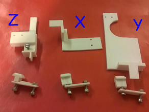 Ordbot Hadron Optical Endstop Mounts and Flags