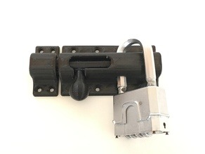 Lockable gate bolt