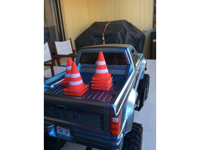 Scale Traffic Cones for 1/10th scale RC cars