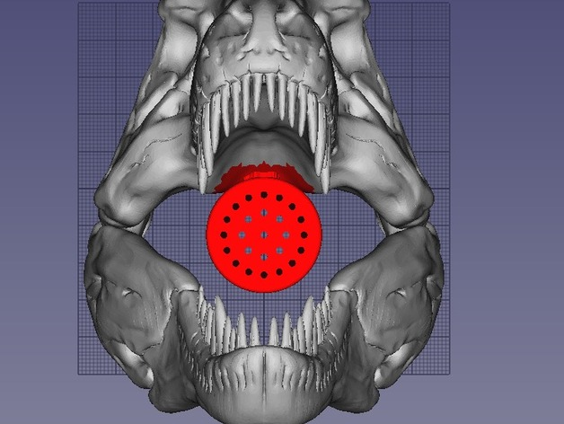 TRex Shower Head: Different Densities For Nozzle And Skull By BasmentShop    Thingiverse