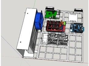 *WIP*  Tilemount / modular electronics mounting system templates