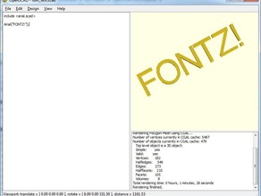 OpenSCAD Font Importer