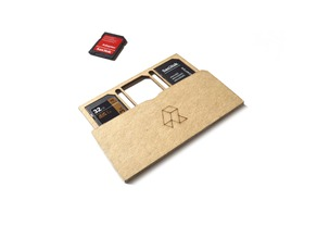Laser cut SD Card holder.
