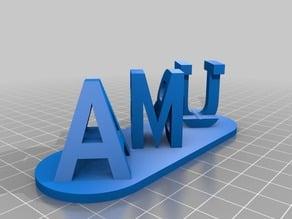 My Customized Dual Letter Blocks Illusion