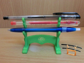 Japanese Samurai Design Pen Stand with MakerBot Logo