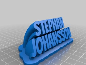 My Customized Sweeping 2-line name plate (Stephan Johansson)