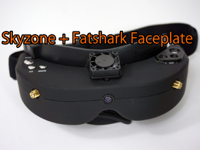 Skyzone v1/v2 FPV Goggle faceplate mod - Simple way for mounting the Fatshark Faceplate
