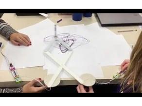 LittleBits pintograph motor wheels & arms