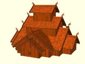 Parametric Miniature Game Dragon Fort