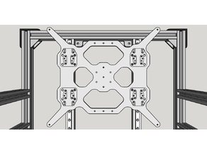 [Cyber Type-R] Bed Carriage For Ultimaker Heatbed (5mm 6061 Aluminium)