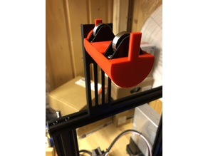 Ender 3 filament spool holder with bearings