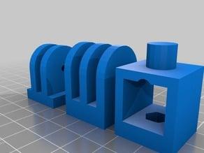15x15 dummy cam holder for square round tubes aluminium profil