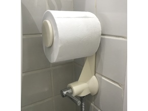 Toilet Paper Holder (mounted on tap)
